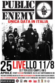 Public Enemy, live a Lecce il 25 aprile